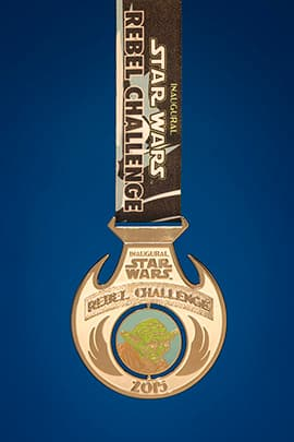 The Inaugural Star Wars Half Marathon Weekend Presented by Sierra Nevada Corporation Medal Rebel Challenge medal