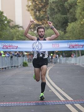 William Prom from Irvine, Calif., Overall Avengers Super Heroes Half Marathon Winner