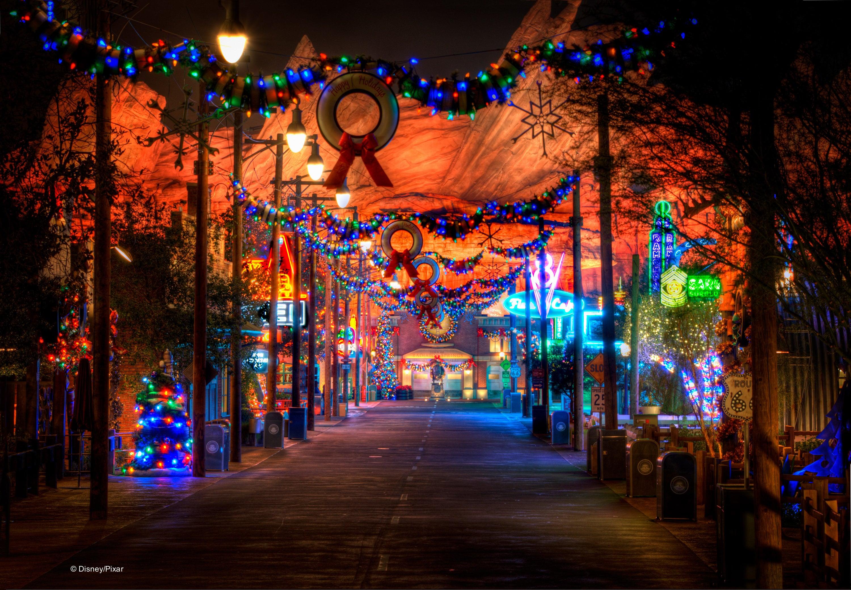 holidays shine bright in cars land at disney california adventure park