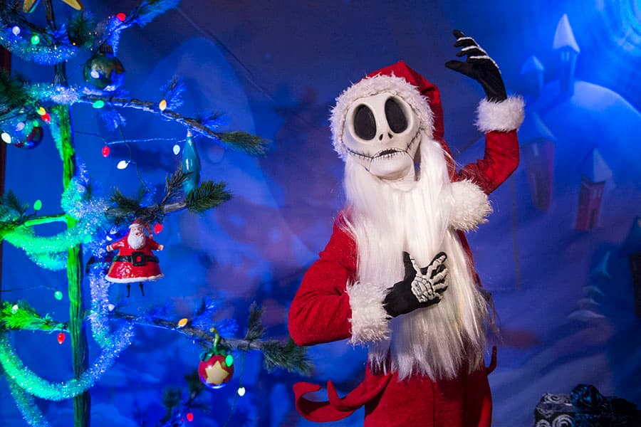 the pumpkin king himself jack skellington has decided to join the holiday celebration at walt disney world resort by dropping in on mickeys very merry - Christmas Jack Skellington