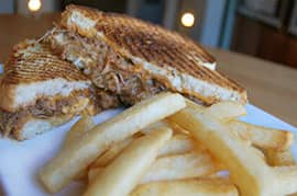 BBQ Grilled Cheese Sandwich from ESPN Club