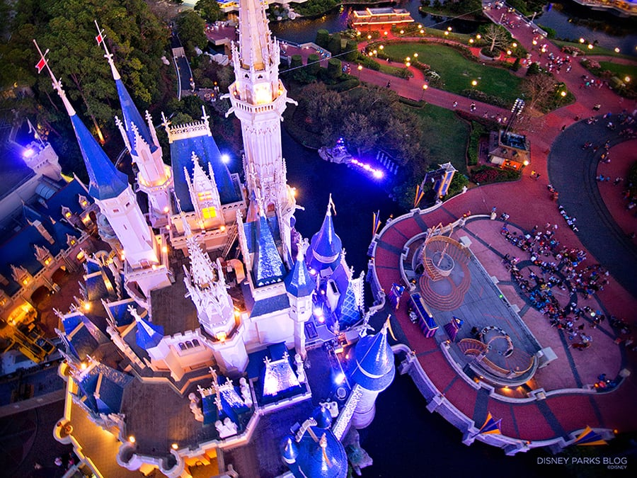 Add a Bird's-Eye View of Cinderella Castle to Your Screen