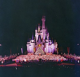 Candlelight Processional Performed in Front of Cinderella Castle in 1980