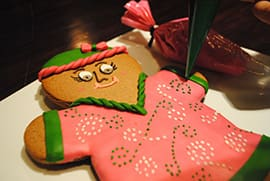 Guests Can Decorate Gingerbread Cookies in the Lobby of Jambo House