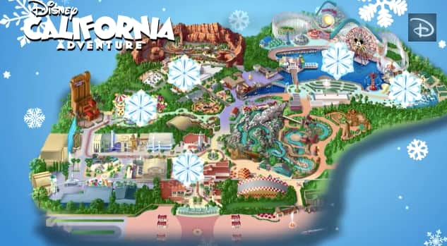 Disneyland Adventure Park Map Mapping Out the Holidays: Disney California Adventure Park  Disneyland Adventure Park Map