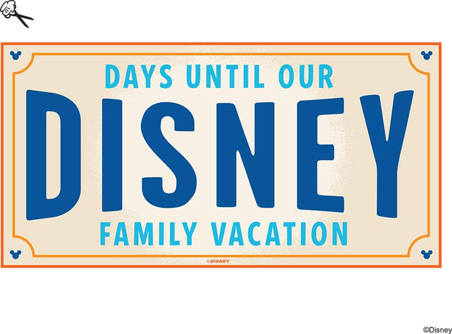 graphic relating to You're Going to Disneyland Printable called Do-it-yourself: Develop-Your-Particular Walt Disney Global Holiday Countdown