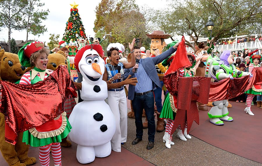 Frozen Christmas Special.Behind The Scenes At Disney Parks Frozen Christmas