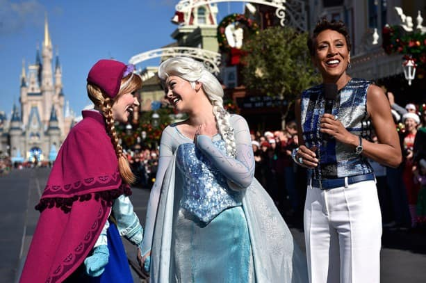 """Good Morning America"" Anchor Robin Roberts Hosts the 2014 Disney Parks Frozen Christmas Celebration TV Special"