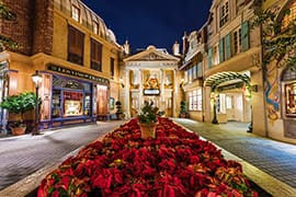 Christmas Decorations in France at Epcot