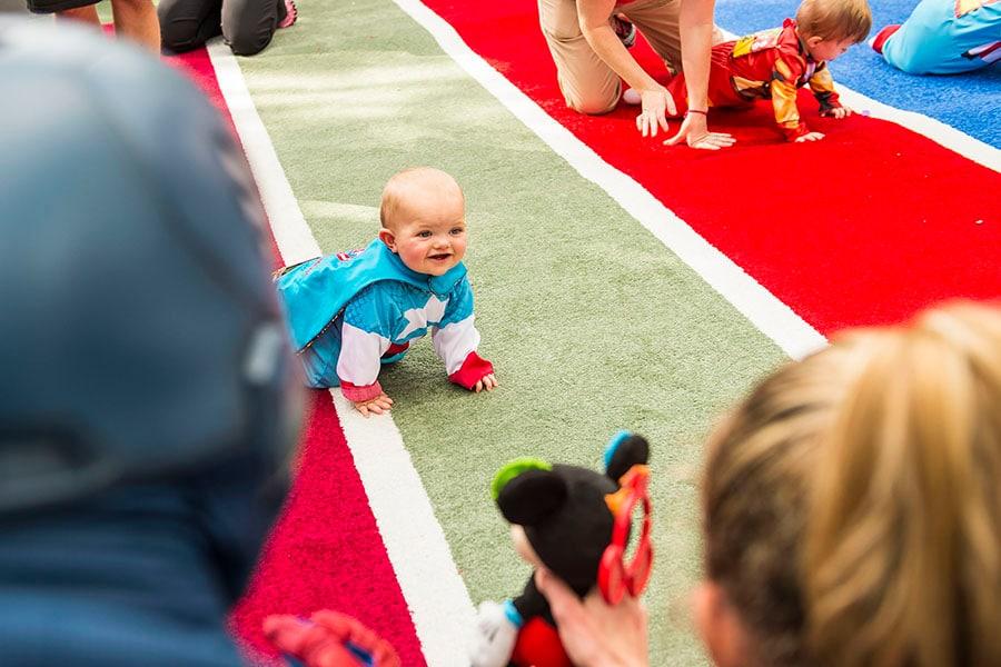 Young Super Hero Celebrates Life At runDisney Diaper Dash