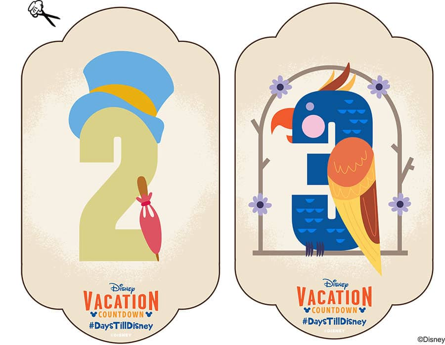photograph regarding Disney Countdown Printable called Do-it-yourself: Crank out-Your-Particular Walt Disney Worldwide Family vacation Countdown
