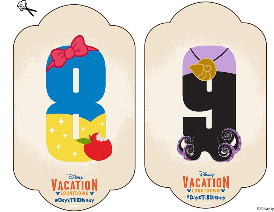 picture regarding Disney Countdown Calendar Printable known as Do it yourself: Generate-Your-Personalized Walt Disney Earth Family vacation Countdown