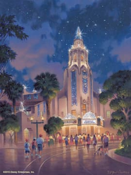 Carthay Circle Theatre in Disneyland California Adventure Park Will Receive a Diamond Medallion Featuring the Letter 'D' for the Disneyland Resort Diamond Celebration