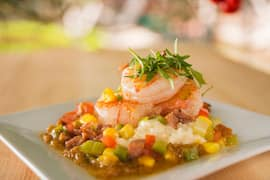 Shrimp and Stone-Ground Grits at the Epcot International Flower and Garden Festival