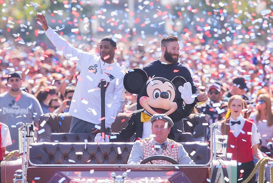 New England Patriots Julian Edelman and Malcolm Butler Celebrate Super Bowl Win at the Disneyland Resort