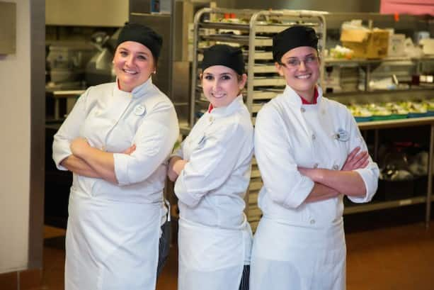 Ashley Parrish, Alexys McCoy and Joleen Piser  Recently Completed the Disneyland Resort Culinary Apprentice Program