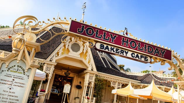 Jolly Holiday Bakery sign at Disneyland