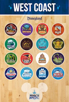 Disneyland Resort Roster for the 2015 March Magic Tournament