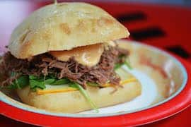 New Braised Pulled Brisket Sandwich at Studio Catering Company at Disney's Hollywood Studios