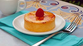 New Creme Brulee at Jolly Holiday Bakery Café in Disneyland Park