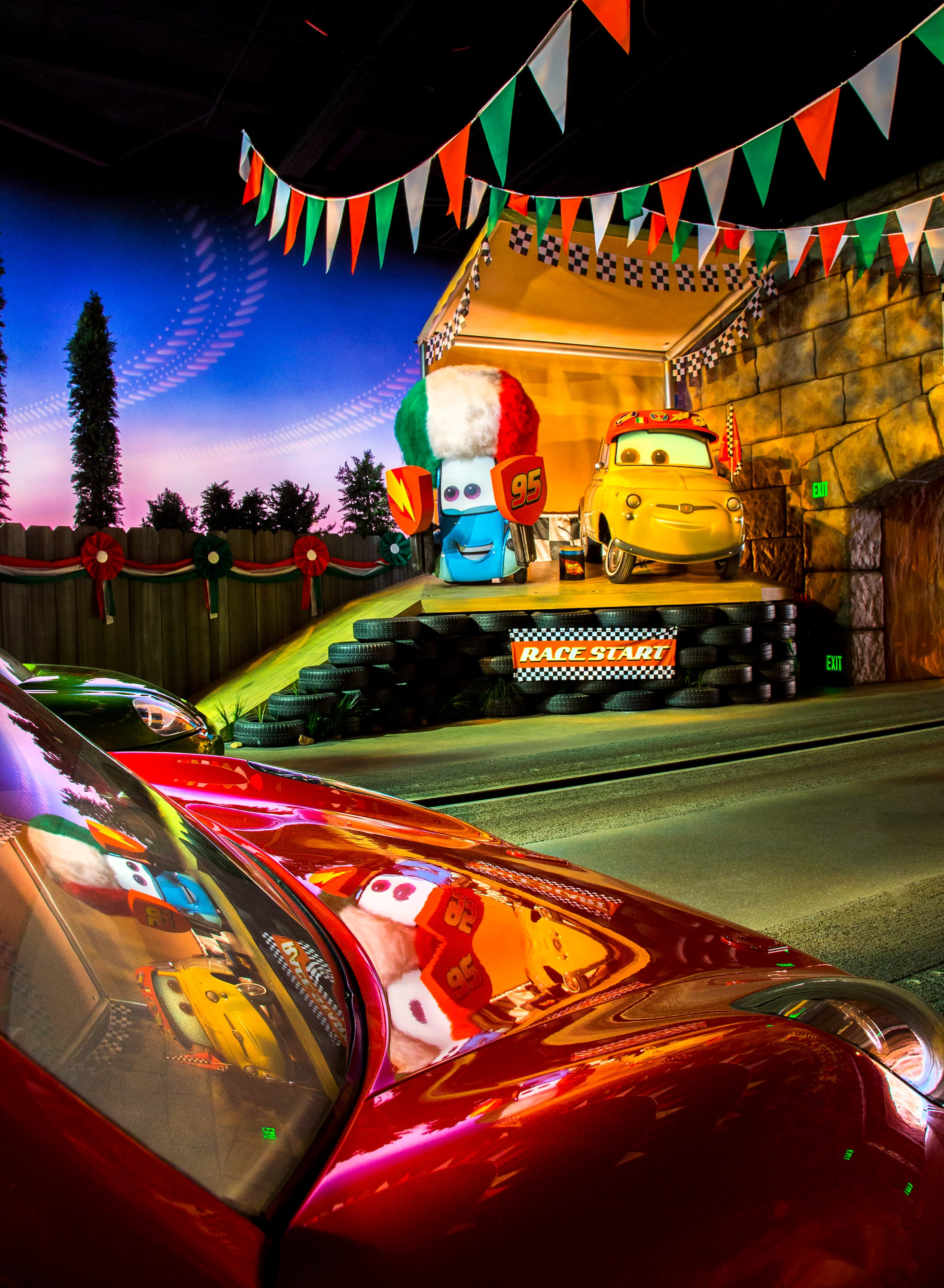 A Unique Point Of View Radiator Springs Racers At Disney California Adventure Park Disney Parks Blog