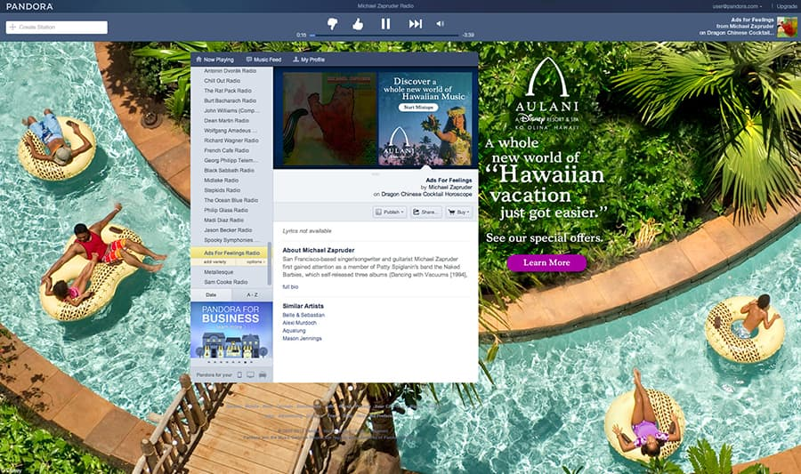 Sounds from Aulani, a Disney Resort & Spa, Now on Pandora