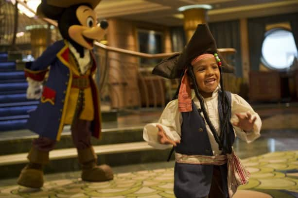 Pirate Mickey Mouse with Guest