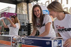 Disney Cruise Line Members Crew Give Back to Port Communities