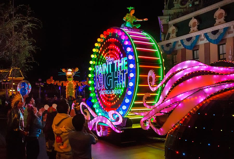 paint the night parade at disneyland park - When Does Christmas Start At Disneyland