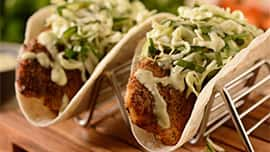 Spicy Fish Tacos at Sunshine Seasons, located in the Land Pavilion at Epcot