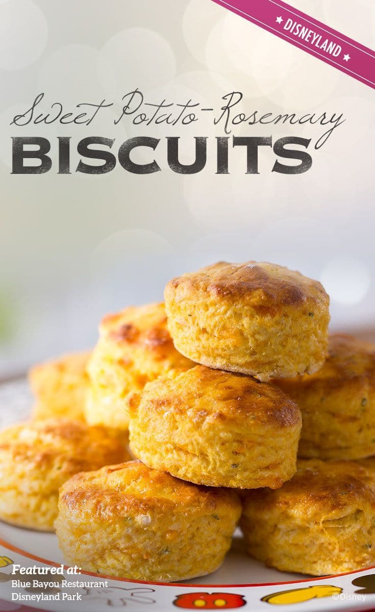 Recipe for Sweet Potato-Rosemary Biscuits from Blue Bayou Restaurant in Disneyland Park