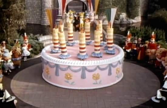 Icing On The Cake Celebrating 10th Anniversary Of Disneyland Park In 1965
