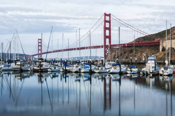 The famous Golden Gate Bridge is shown in this photo, which is one of the iconic destinations featured on the Adventures by Disney San Francisco Long Weekend trip.