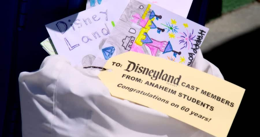 Local Students Shower Disneyland Resort And Its Cast Members With Thousands Of Birthday Wishes