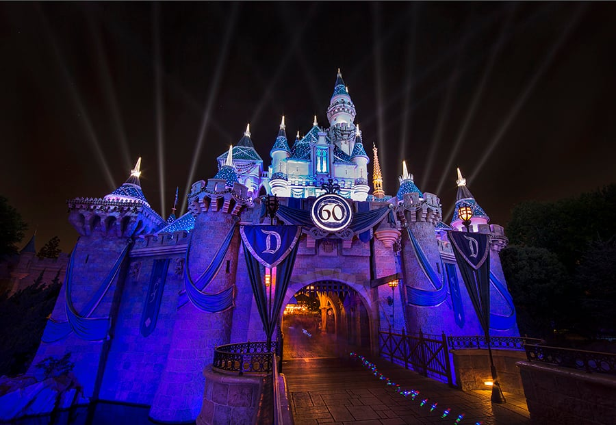 Disney Parks After Dark Sleeping Beauty Castle Dazzles At Night