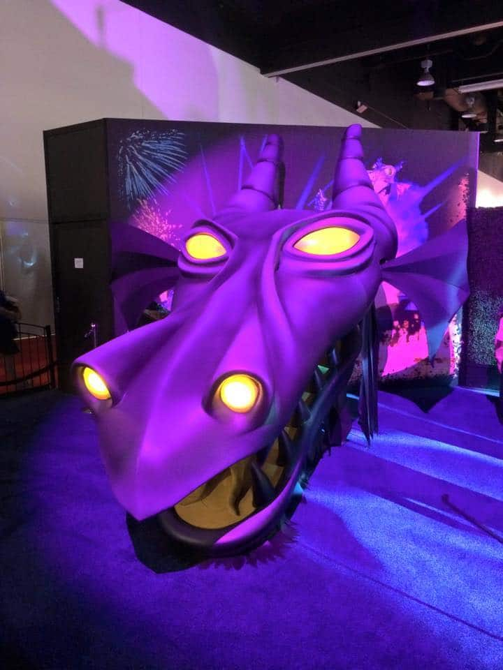 Maleficent Dragon Head from 'Fantasmic!' Seen in the The 'Walt Disney Archives Presents-Disneyland: The Exhibit' At The D23 EXPO