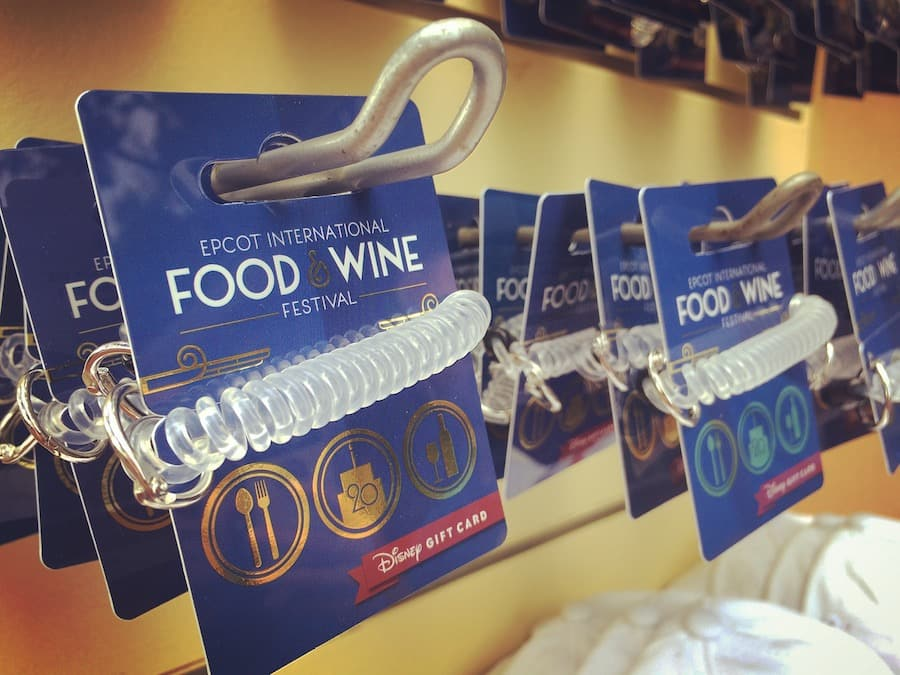New Wearable Disney Gift Card Design Celebrates 20 Years Of The Epcot International Food Wine Festival Disney Parks Blog