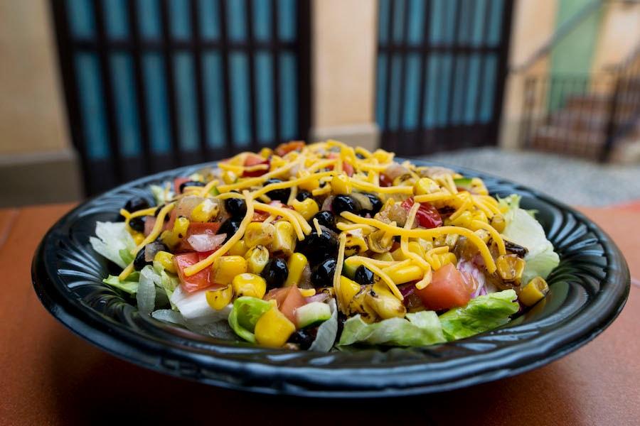 Roasted Corn and Vegetable Salad at Tortuga Tavern in Magic Kingdom Park