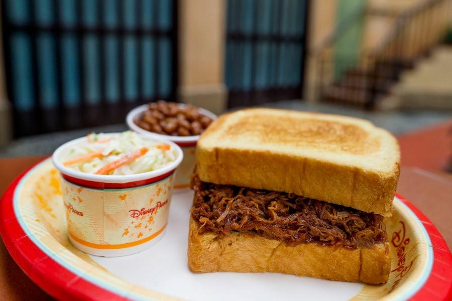 New Pulled Pork Sandwich at Tortuga Tavern in Magic Kingdom Park