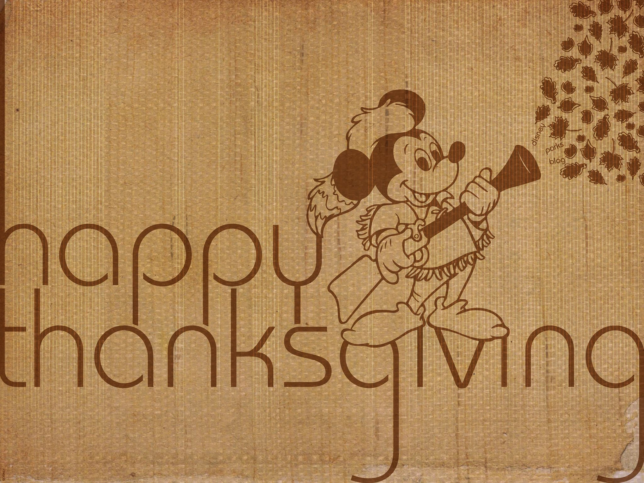 Happy Thanksgiving from Mickey Mouse | Disney Parks Blog