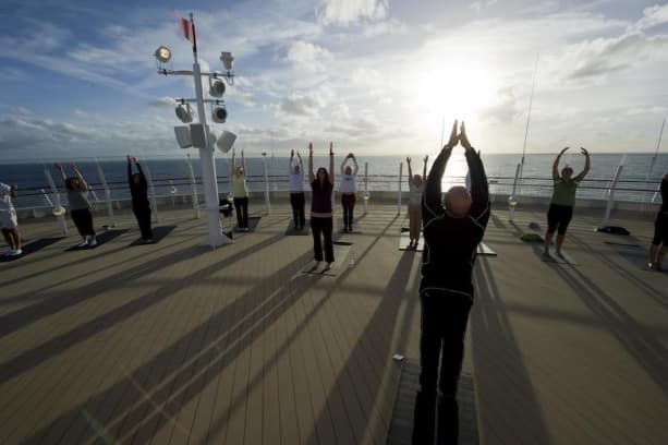 Yoga on Deck on the Disney Dream