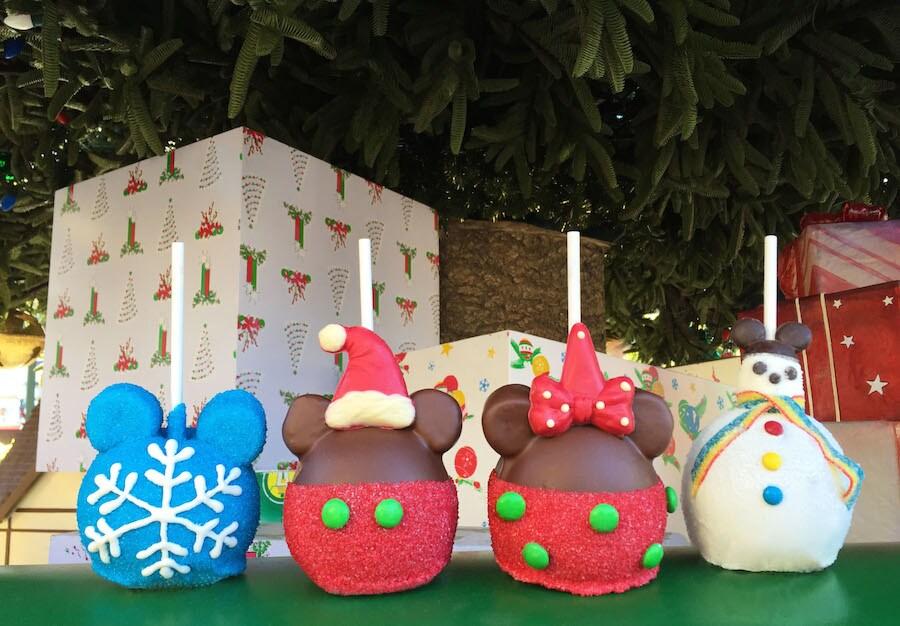 Disneyland Candy Apples Christmas 2020 December Gourmet Treats Delight at the Disneyland Resort | Disney