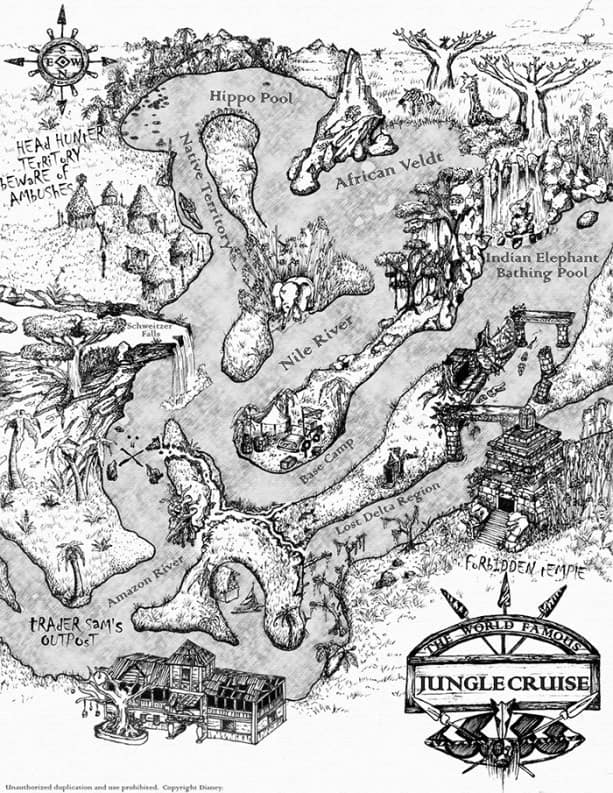 photo relating to Printable Disney Maps referred to as Print Your Personalized Map of the Jungle Cruise at Disneyland Park