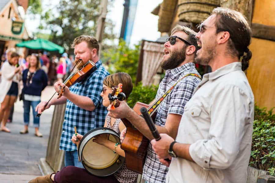 Acoustic Group Quickstep Debuts in the United Kingdom Pavilion at Epcot