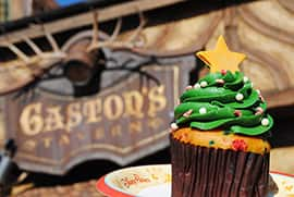 Holiday Tree Cupcake from Gaston's Tavern in New Fantasyland