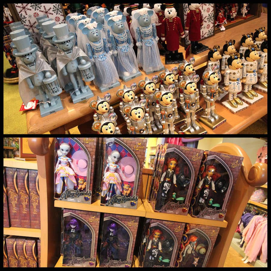 Decorative Designer Nutcrackers and Disney Attractionista Dolls Available at Disney Parks