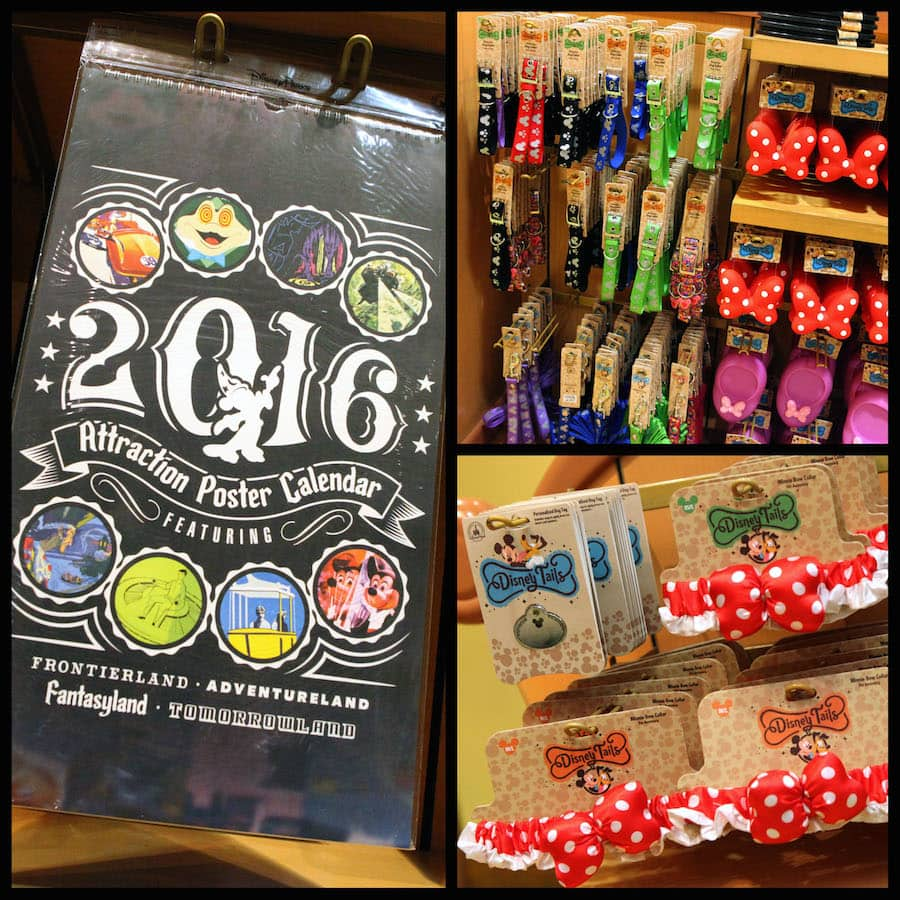 2016 Disney Parks Attraction Poster Calendar and Disney Tails Items Available at Disney Parks