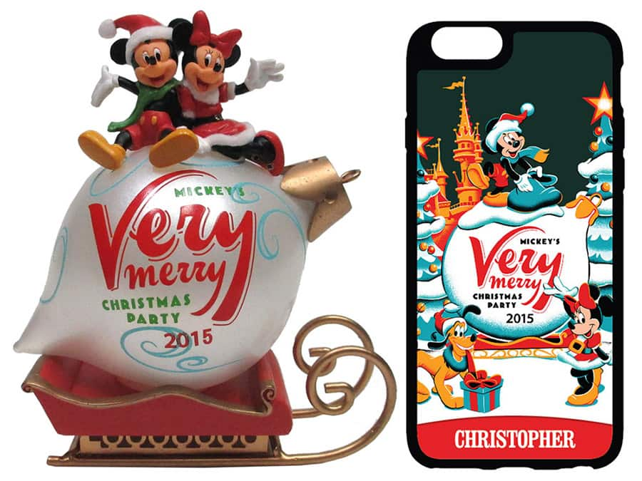 commemorative merchandise for mickeys very merry christmas party 2015 at magic kingdom park
