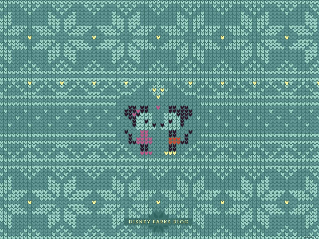 Disney Parks Blog Ugly Christmas Sweater featuring Mickey and Minnie Wallpaper
