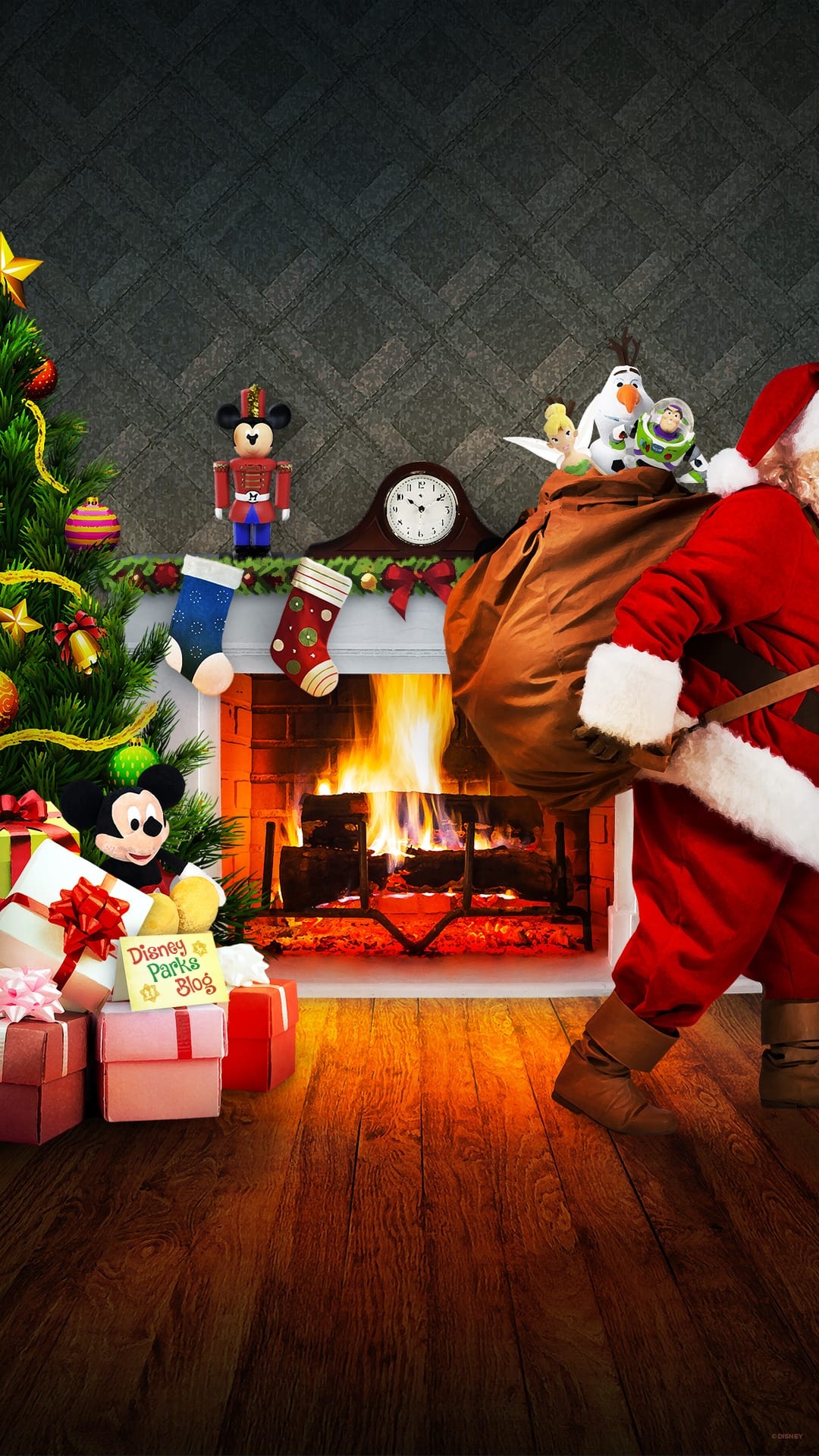 Newsletter Exclusive Christmas Wallpaper Disney Parks Blog